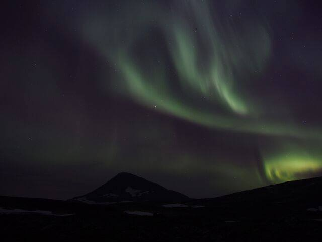 The Northern lights we saw from Skarvassbu (photo credit Sidse Kofoed)