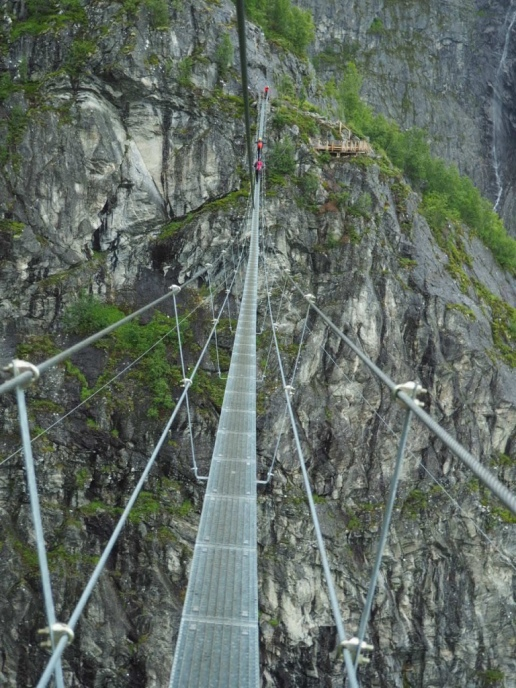 Gjølmunnebrua: The longest hanging bridge in Europe.
